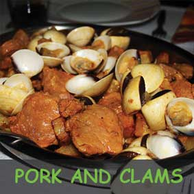 pork and clams, recipe